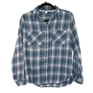 Forever 21 Tops - Forever 21 M Plaid Flannel Pearl Snap Shirt F21